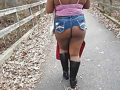Sexy shorts for big ebony ass in..