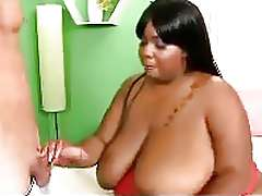 Huge Titty Ebony BBW In Action