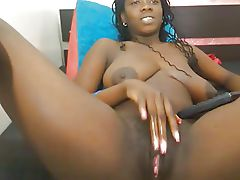 Sexy black girl, huge dark nipples..