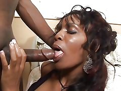 Black girl takes huge cock in her..