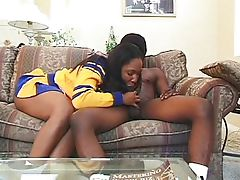 Ebony cherry coed analized on her..