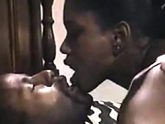 Ebony MILF sucking and gets..