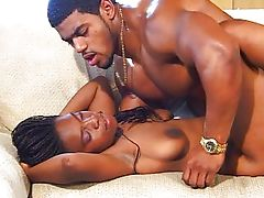 Cute coed ebony bitch fucking wild