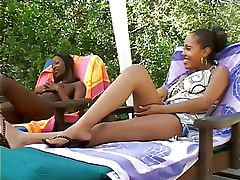 hot ebony babes in one lesbian..
