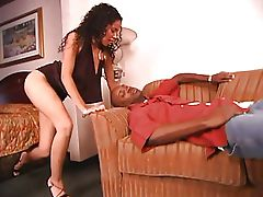 Black chick fucked then facialized